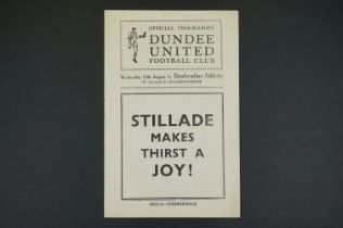1948/49 Dundee United v Dunfermline Athletic football programme played 18th Aug 1948 in the B League