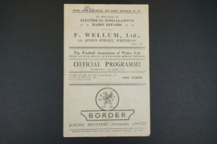 1947 Welsh Cup Final Replay Chester v Merthyr Tydfil football programme played at Wrexham 11th