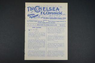 1910/11 Chelsea v Wood Green Town 19th Nov 1910 in London League / Swindon Town 21st Nov 1910