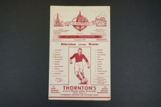 1950/51 Hearts v Hibernian football programme played 1st Jan 1950, some foxing marks, gd overall