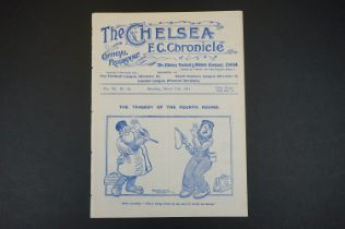 1910/11 Chelsea v Swindon Town football programme played 11th March 1911 in FAC 4th Rnd, ex bound