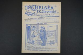 1914/15 Swindon Town v Chelsea FAC 1st Rnd football programme played 9th Jan 1915 at Chelsea's