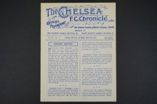 1913/14 Chelsea v Swindon Town 21st Mar 1914 in SEL / Household Brigade Challenge Cup Final 1st