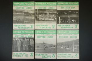 Six 1950s Hibernian home football programmes to include 4 x 1952/53 (v Aberdeen 27th Dec 1952,
