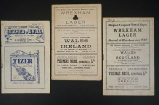 Three 1940s Wales International football programmes to include 2 x home (v Scotland 19th Dec