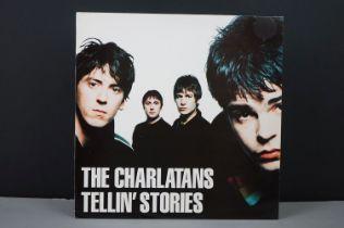 Vinyl - The Charlatans Tellin Stories LP on Beggars Banquet BBQLP190 with lyric inner sleeve, vg+