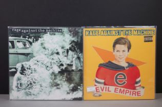 Vinyl - Two Rage Against The Machine LPs to include 4722241 & Evil Empire 4810261, sleeves vg+,