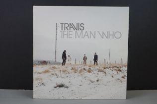 "Vinyl - Travis The Man Who LP on Independiente ISOM9LP with bonus remix 12"" vinyl, sleeves a touch"