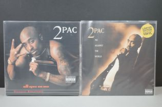 Vinyl - Two 2 Pac LPs to include All Eyez On Me 3 LP on Death Row Simply Vinyl DRS1255004 & Me