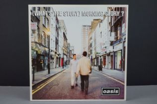 Vinyl - Oasis What's The Story Morning Glory? 2 LP on Creation CRELP189, sleeve has some indented
