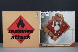 Vinyl - Two Massive Attack LPs to include Protection WBRLP2 7 Blue Lines WBRLP1, both vg++