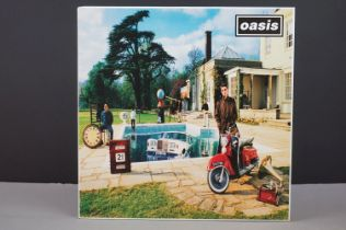 Vinyl - Oasis Be Here Now 2 LP on Creation CRELP219 with original HMV certificate of purchase 04225,