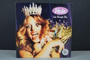 Vinyl - Hole Live Through This LP ltd edn white vinyl on City Slang LC683 vg++