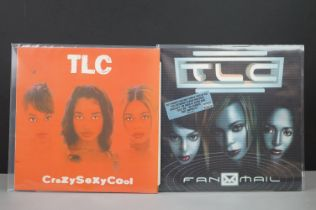Vinyl - Two TLC LPs on Laface to include CrazySexyCool 73008260091 & Fan Mail 73008260551 2 LP