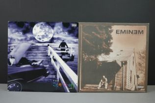 Vinyl - Two Eminem LPs to include The Slim Shady LP INT2-90287 with insert (vg+ overall with a large