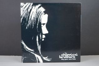 Vinyl - Chemical Brothers Dig Your Own Hole 2 LP on Freestyle Dust XDUSTLP2, inner sleeves,