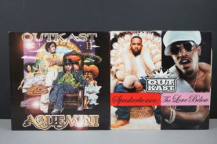 Vinyl - Two Outkast LPs to include Aquemini S160012 with inners, tape repair to one, vinyl vg++, and