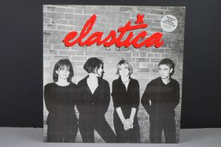 Vinyl - Elastica self titled LP on Deceptive BLUFF014LP numbered 04498 complete with booklet, vg+