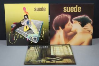 Vinyl - Three Suede LPs to include self titled on Nude 1LP with lyric inner, ex, Coming Up Nude