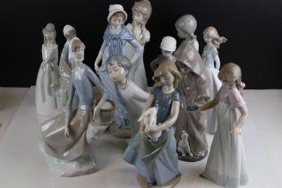 Collection of Twelve Nao Figurines
