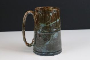 Whieldon style pottery tankard