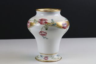 William Moorcroft for James Macintyre Vase decorated with flowers and gilt panels, printed mark