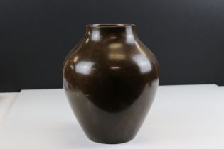 WMF bronzed vase with stylized decoration, marked to underside, approx. 23cm tall