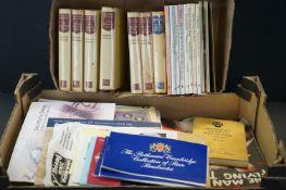 A box of assorted ephemera inc comics, sheet music, theatre and cinema programmes, Winston Churchill