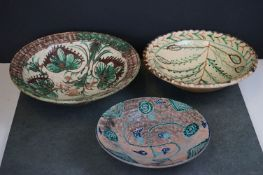 A collection of three vintage Spanish / Moroccan Dishes.
