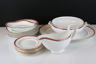 A Wedgwood 'Colorado' pattern part dinner service to include plates, gravy boat, platter etc..