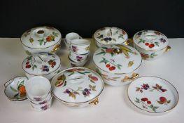 A collection of Royal Worcester porcelain Evesham pattern part dinner service.