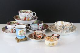 A small group of mixed ceramics to include Minton's, Royal Worcester and Royal Crown Derby examples.