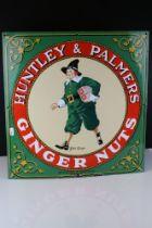 Advertising - Enamel Advertising Sign for ' Huntley & Palmer John Ginger Ginger Nuts ', 46cms x