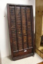 Late 19th / Early 20th century Wooden Clocking-in Machine Multi Card Rack , 91cms high x 42cms wide