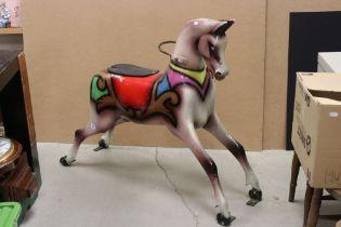 Mid 20th century Fibreglass Painted Fairground / Carousel Horse, 103cms high