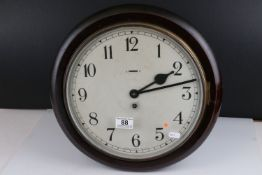 19th / Early 20th century Circular Wall Clock with Arabic numerals, slow / fast aperture and