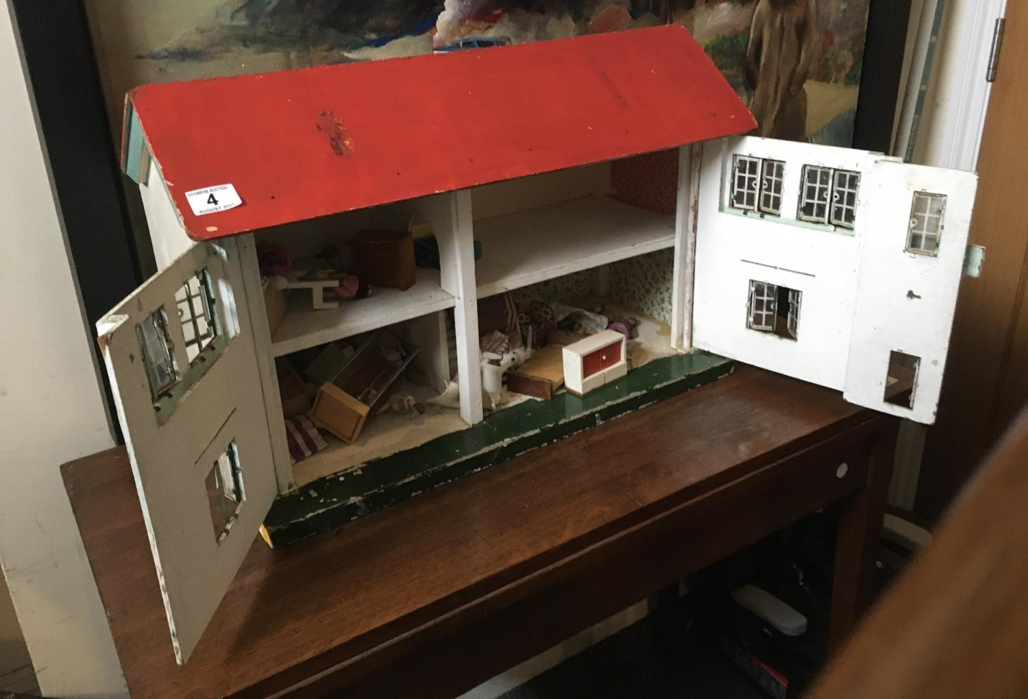 Vintage Dolls House with contents - Image 2 of 3