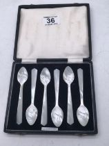 Boxed set of 6 x Mother of pearl Caviar spoons,