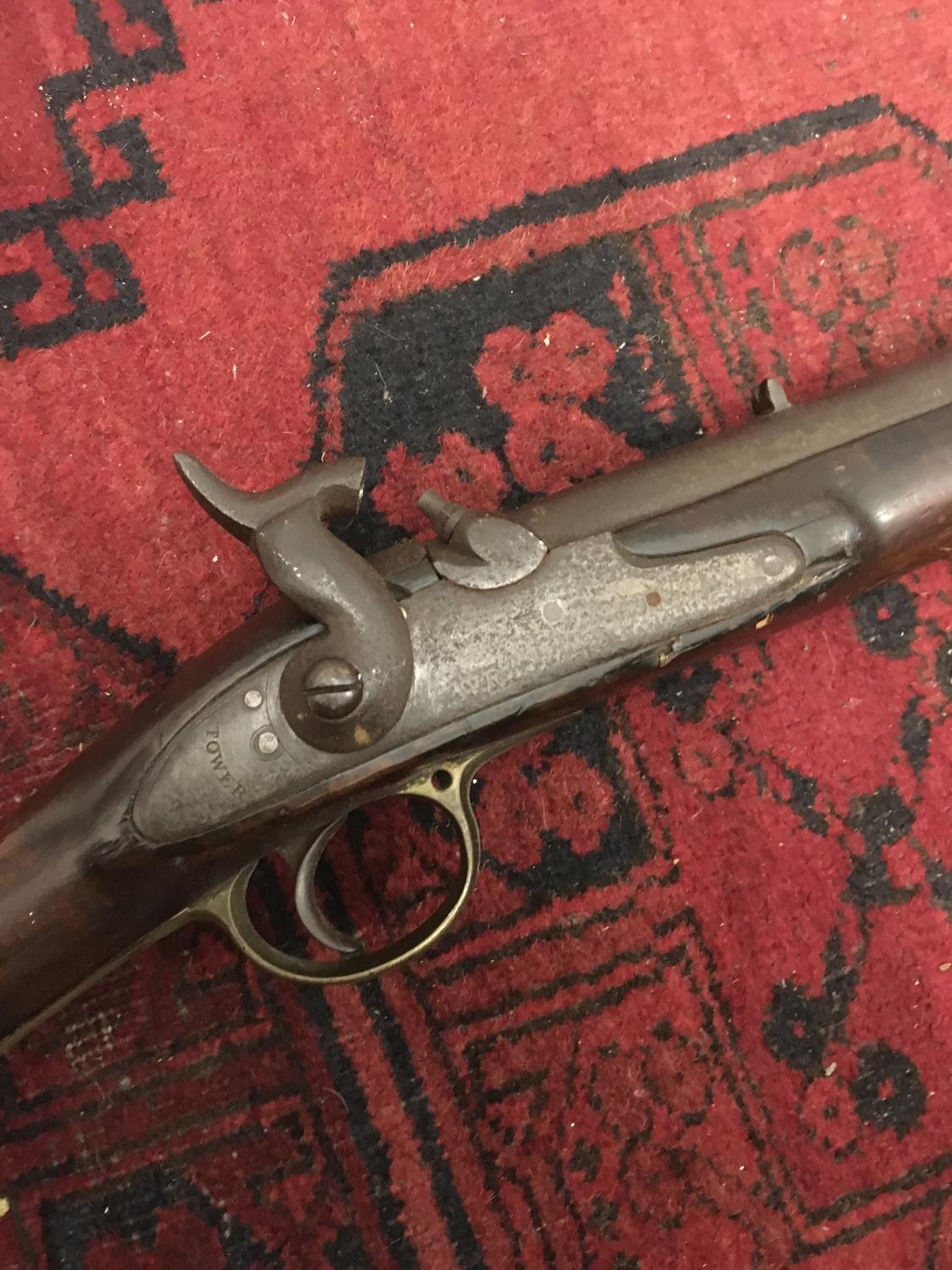 """19 th century Musket, decorative purposes only, 55"""" tall 25 - Image 3 of 4"""
