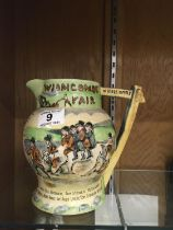 """Widdicombe Fair, a musical jug, 7"""" tall makers Crown Devon Fielding. appears to be working no damage"""
