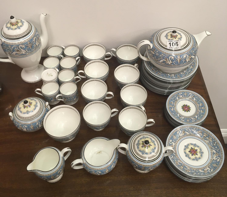 Wedgwood Classical Tea and Coffee set 8 place setting includes, coffee pot, tea pot, cream and