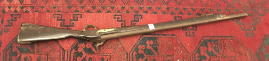 """19 th century Musket, decorative purposes only, 46"""" tall 25"""