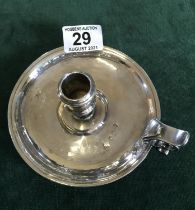Georgian period silver chamber candlestick, 225 grams rubbed Hallmarked