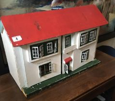 Vintage Dolls House with contents