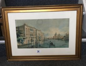Grand Canal Venice a Framed and Glazed 19 th century watercolour by Ettore Cadorin,