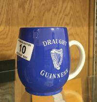 Carlton ware a rare draft Guinness half pint tankard,