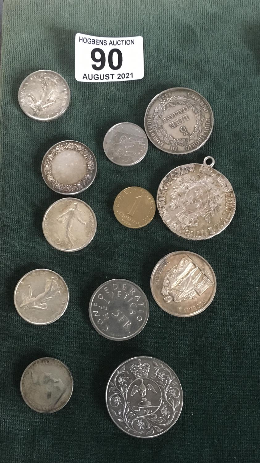 Collection of old French coins including some silver - Image 2 of 2
