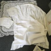 7 x assorted lace linen and embroidered table cloths various designs