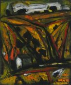 Gunther SKRODZKI (1935-2012)St Maws, Mixed media on paper, Signed and dated '96 lower right,