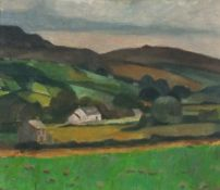 Horas KENNEDY (British 1917-1997)Cottage - Donegal, Oil on board, Signed verso by artist's